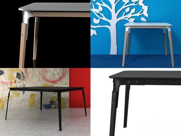 steelwood table 3D model