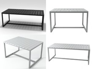 3D model saler tables