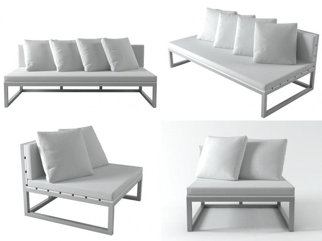 saler sofa modules 3D model