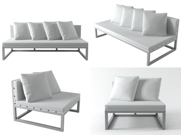 saler sofa modules 3D model