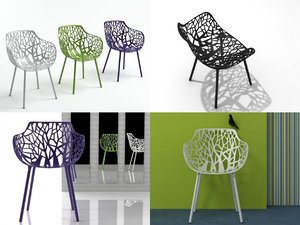 3D forest armchair