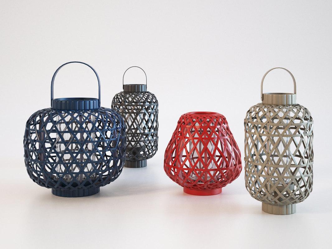 savana lanterns 3D model