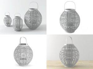 3D model mekong lanterns