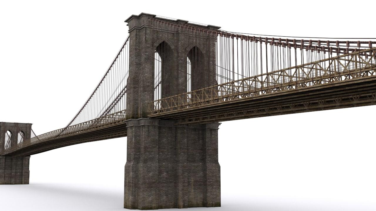 bridge brooklyn 3D model