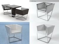 cuba 6513 armchair 3D