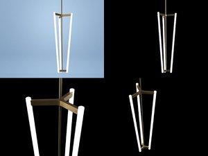 3D tube chandelier model