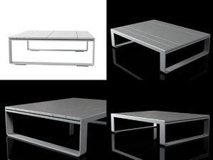flat tables 3D model