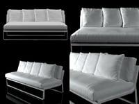 3D flat sofa model