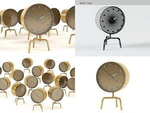 3D model tripod clock