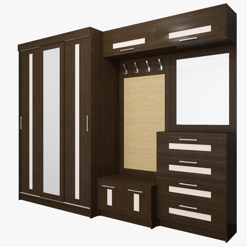 3D wardrobe modular
