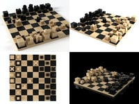 3D bauhaus chess pieces