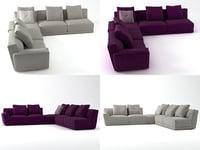 3D model luis sofa comp5