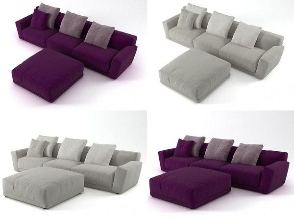 luis sofa comp4 3D model