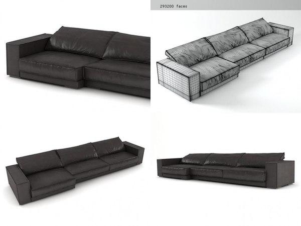 budapest sofa 03 3D model