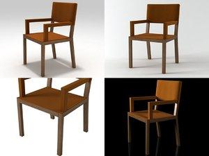 triz armchair 3D model