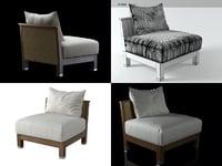 3D zanzibar armchair model