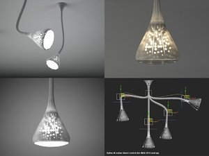 3D pipe wall ceiling lamp