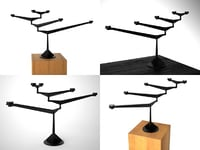 3D model spin table candelabra