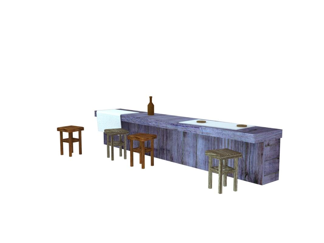 bar saloon motel 3D model