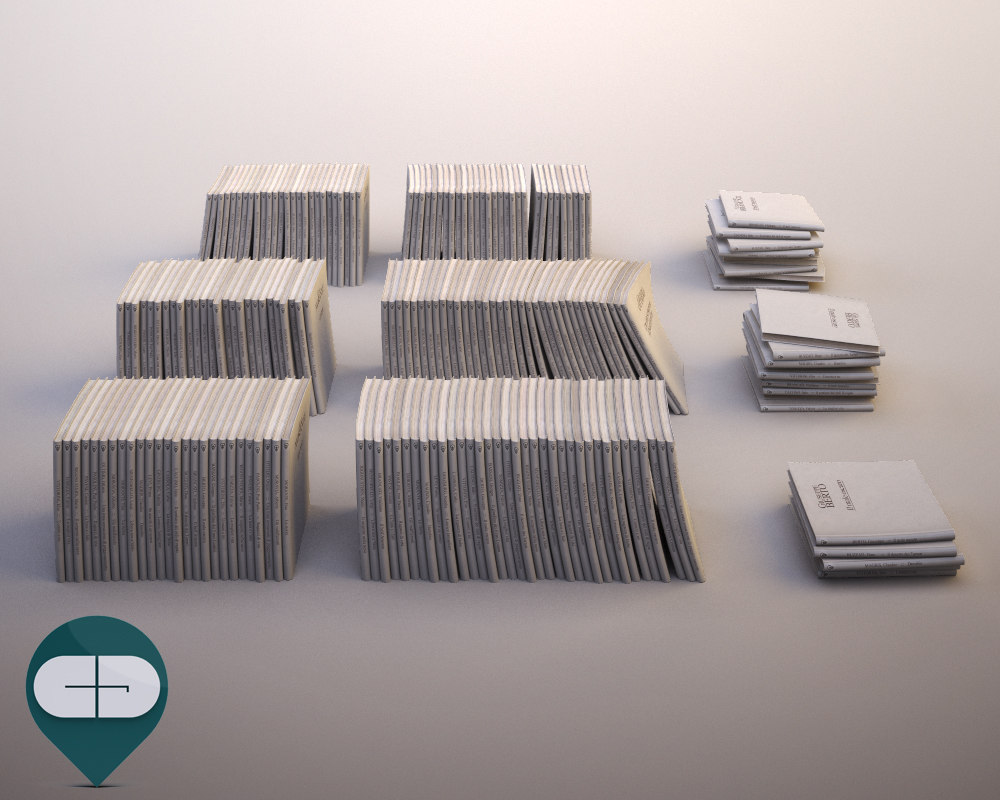 book white 3D model