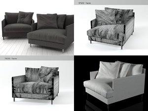 3D chemise armchair model