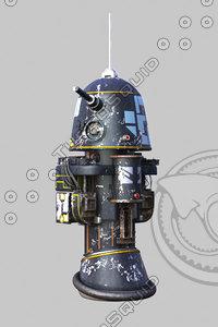 r1 astromech droid 3D model