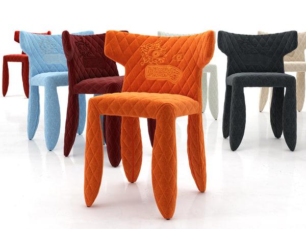 3D monster armchair model