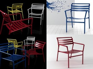 straw lounge chair 3D model