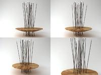 bosquet bench 3D model
