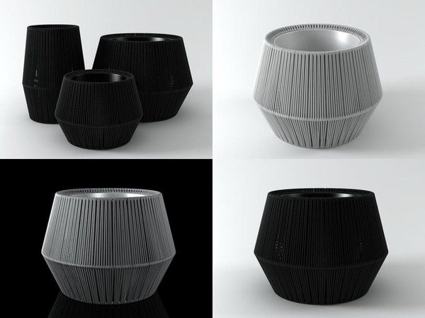 zigzag planters 3D model