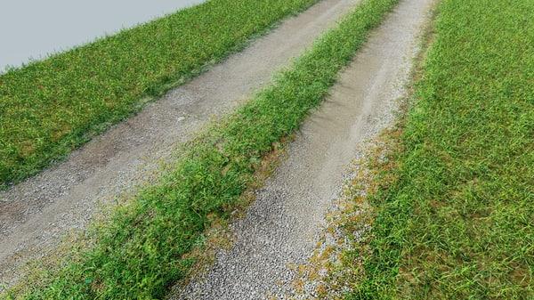 3D gravel driveway tileable road model