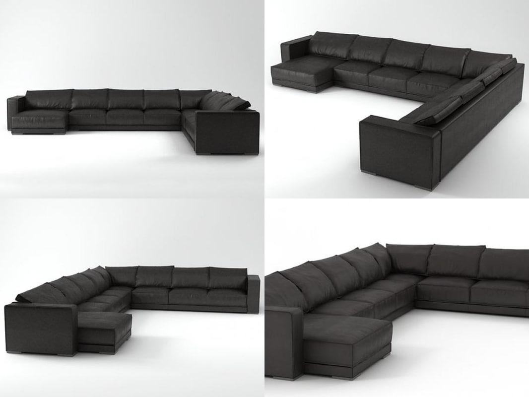 budapest sofa 01 3D model