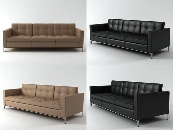 foster 502-30 sofa 3D model