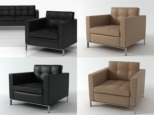 foster 502 armchair 3D model