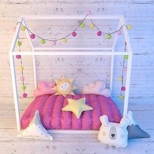 3D little love bed