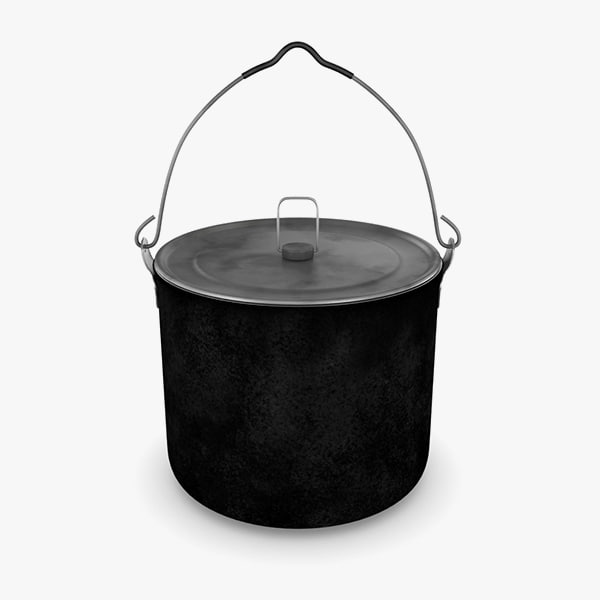 3D camping hanging pot used model