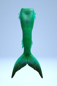 mermaid tail 3D model