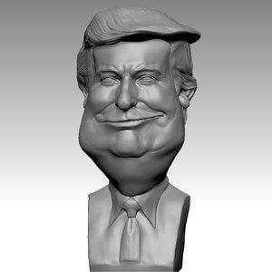 donald trump print 3D model
