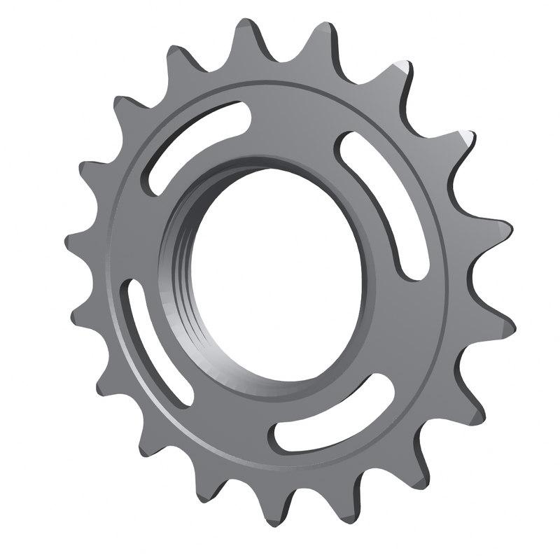 18 cog fixed gear 3D model