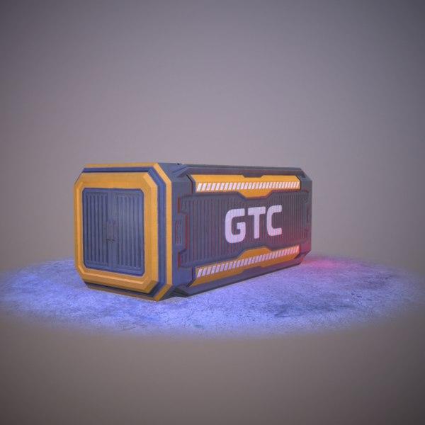 futuristic sci-fi container 3D model