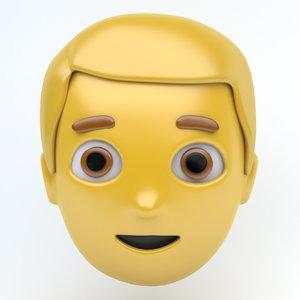 3D model emoji face