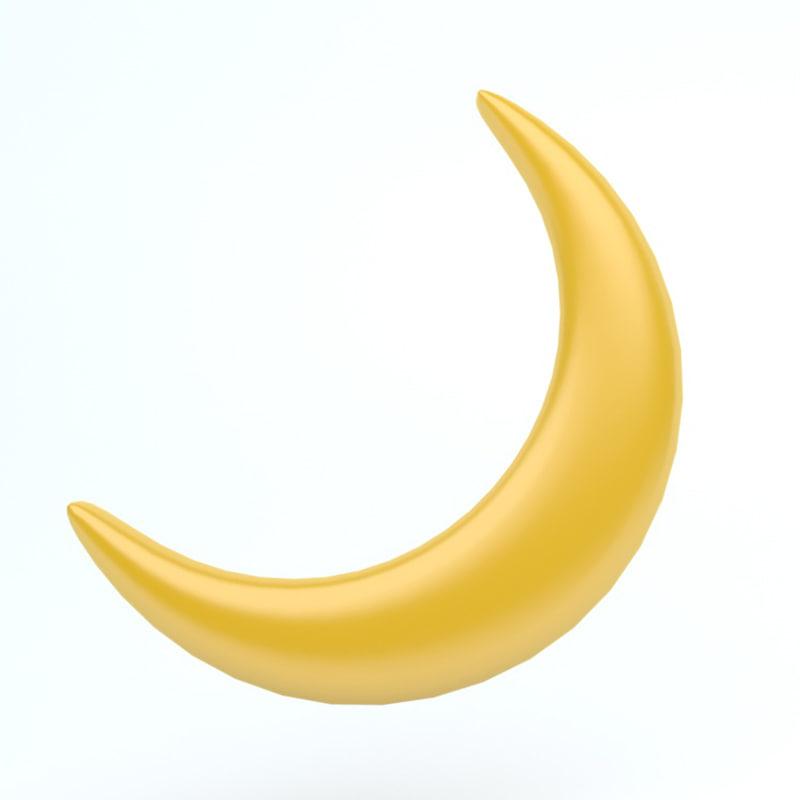 3D icon moon