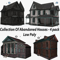 Collection Of Abandoned Houses - 4 pack.