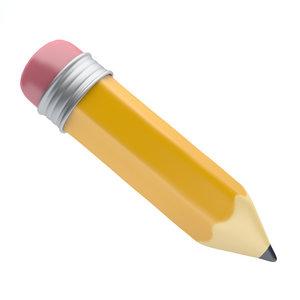 3D icon pencil