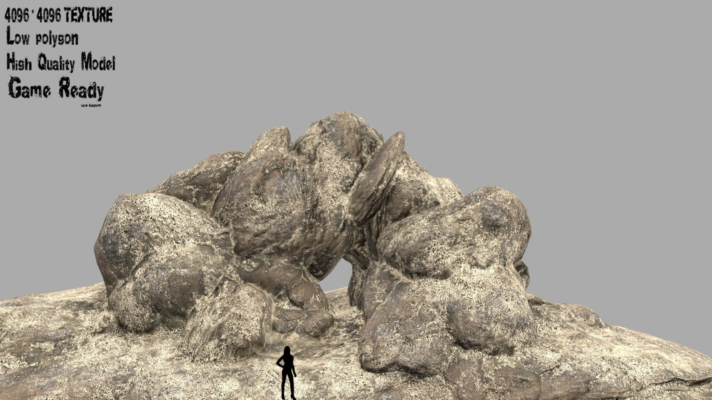3D rock sand model