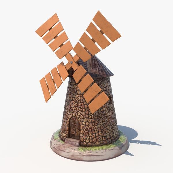 3D garden windmill