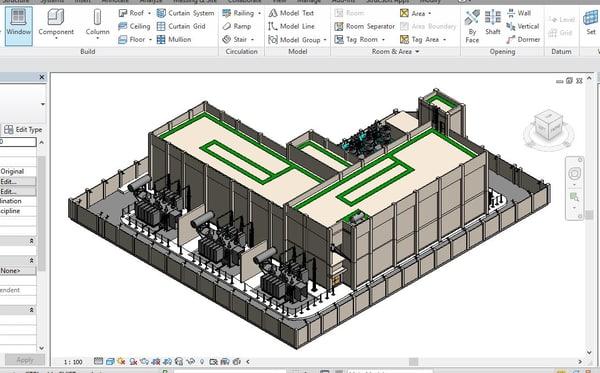 3D model substation revit