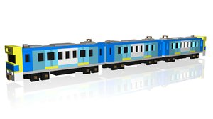 3D crossy road train model