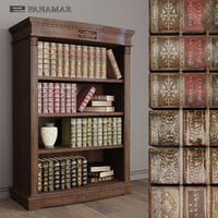 3D model old books library panamar