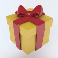3D model present icon